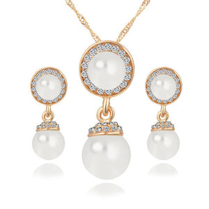 Double-Simulated-Pearl-Jewelry-Sets-Necklace-Earrings-Crystal-Gold-Color-Wedding-Jewelry-Parure-Bijoux-Femme