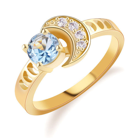 Fashion-Moon-Finger-Band-Gold-Plated-Ring-for-Women-Vintage-Round-blue-Crystal-Yellow