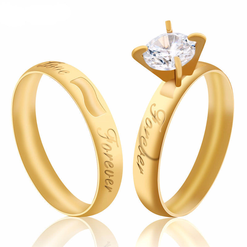 Gold Plated Wedding Ring 'Forever'