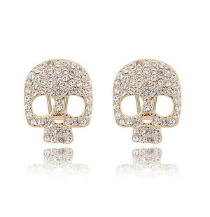 Crystal Skull Stud Earrings