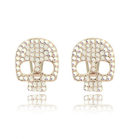Image of Crystal-Skull-Men-Women-Stud-Earrings-Birthday-Party-Banquet-Gift-Rock-Racing-Cycling-Fashion-Jewelry-mightyhotdeals.com