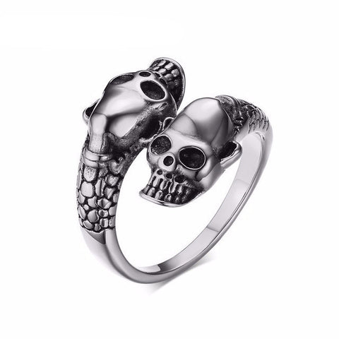Image of Gold and Silver Skull Ring