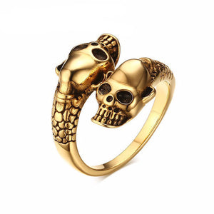 Gold and Silver Skull Ring