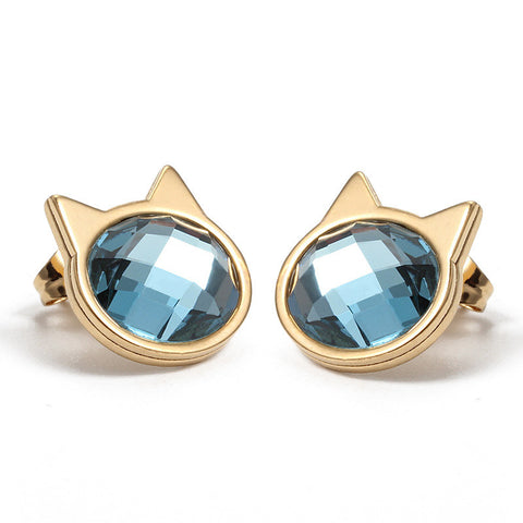 Image of Purrfect Gold-Plated Cat Jewelry Set