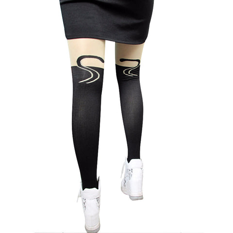 Image of New-Sexy-Stockings-Women-Cute-Cat-Tail-Leggings-Female-Catoon-Stocking-Sexy-Sheer-Pantyhose-Stockings-Long