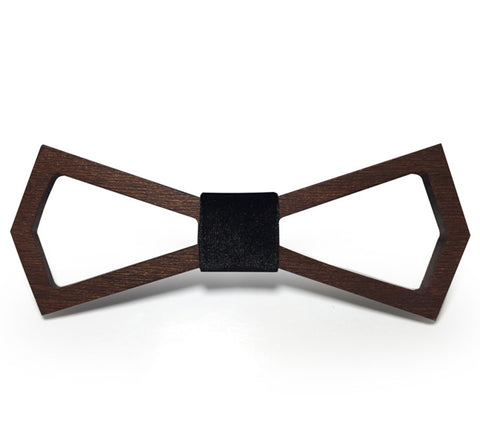 Image of Wooden Bow Tie - Travel with Style