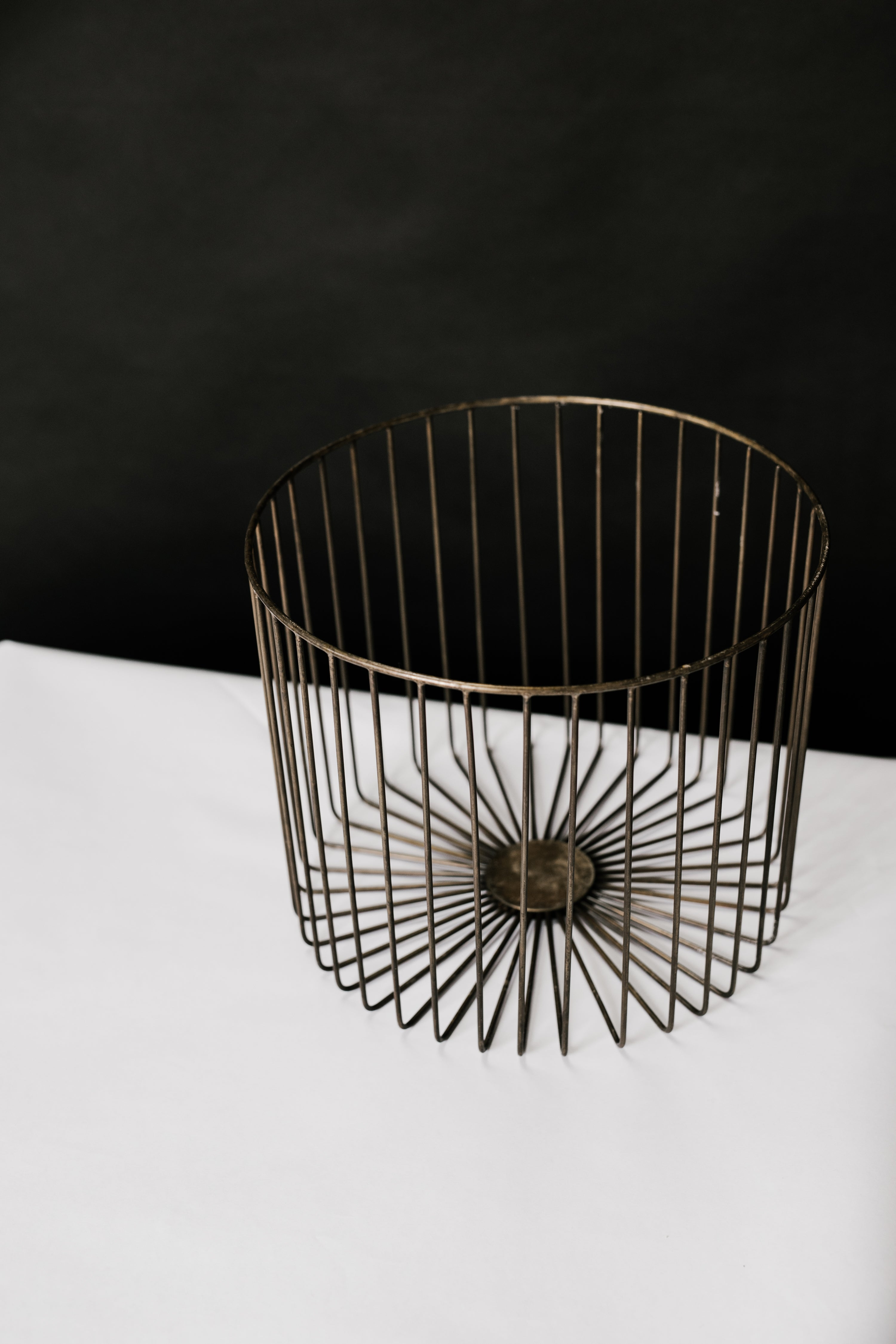 Antique Brass Starburst Baskets (Set of 3) - Elizabeth Hales Design