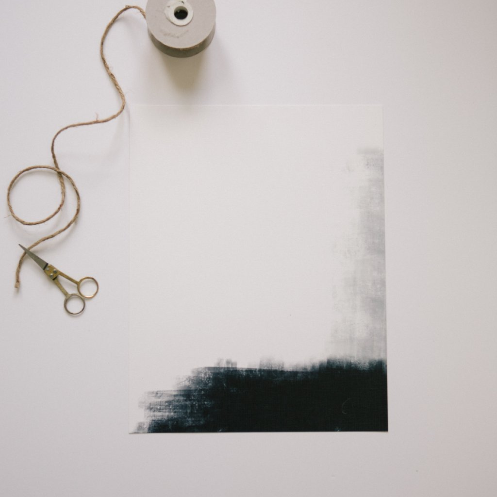 Black and White Abstract Print, Horizontal 1 - Elizabeth Hales Design