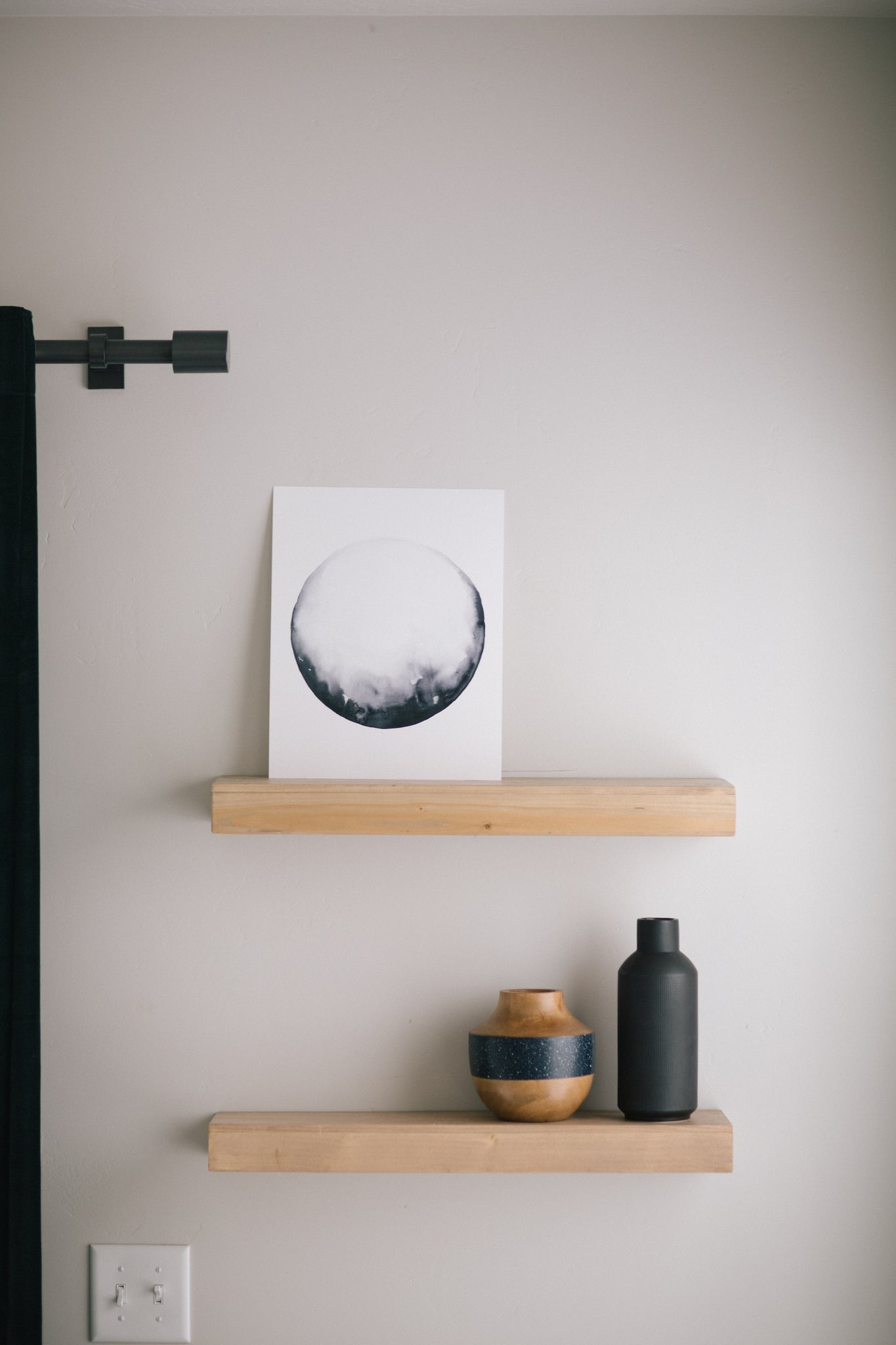 Lunar Watercolor Print