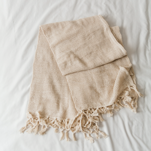 Natural Cream Throw