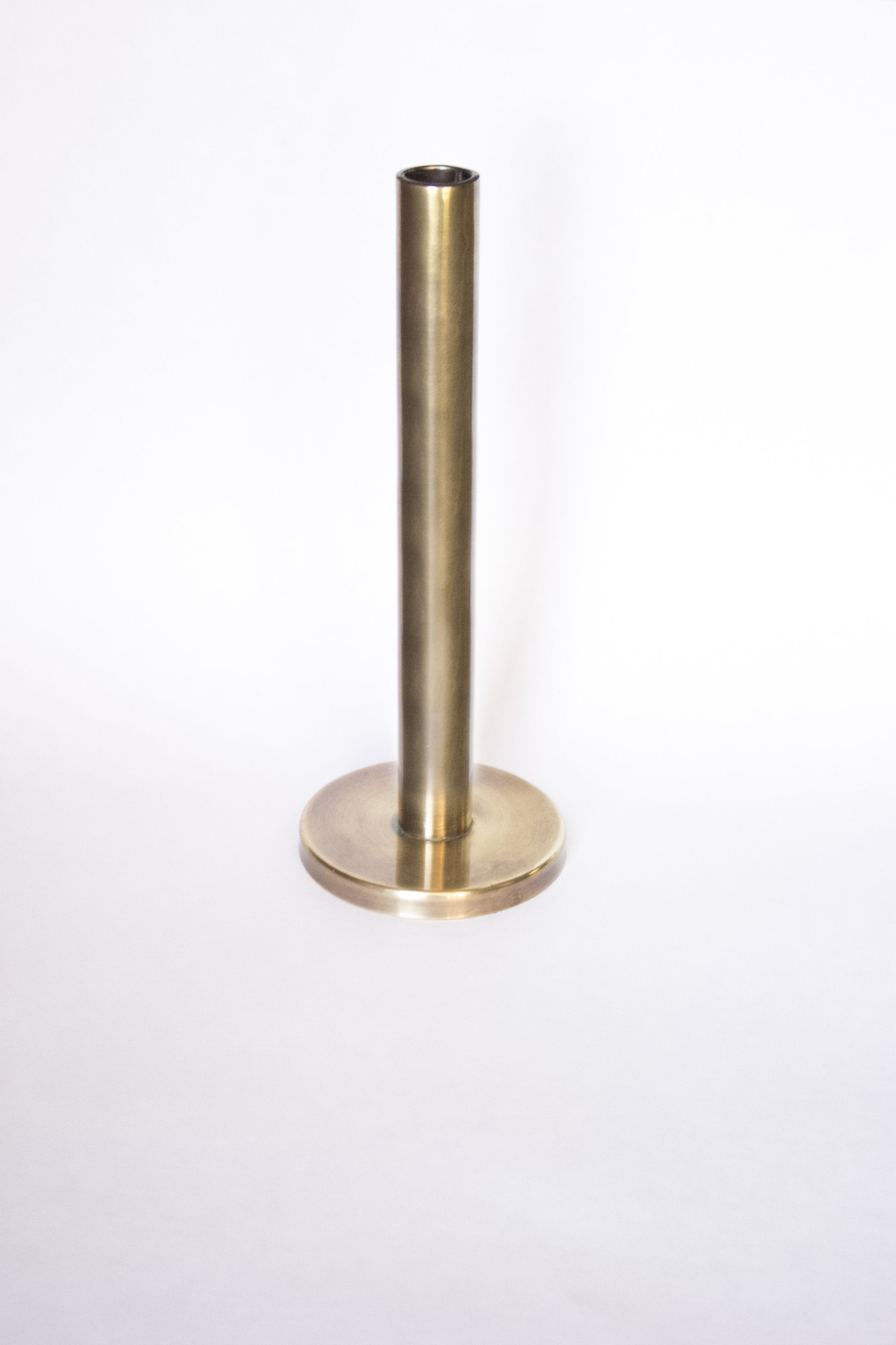 Antique Brass Candle Holders (set of 3) - Elizabeth Hales Design