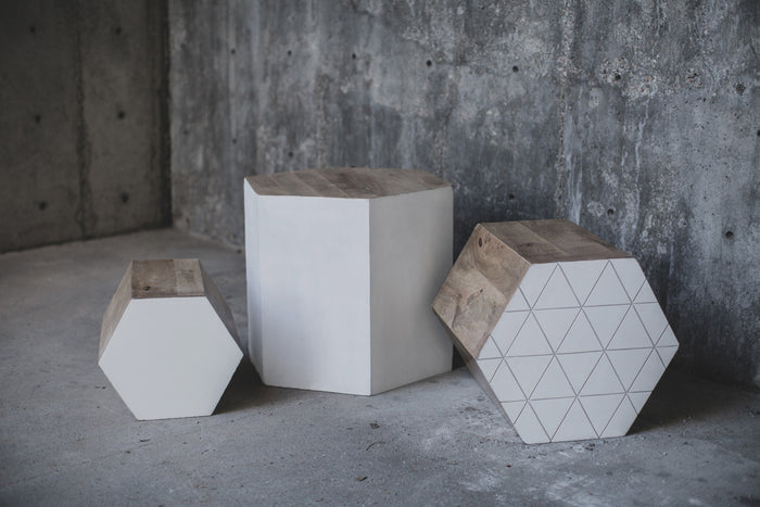 Hexagon Nesting Table Set