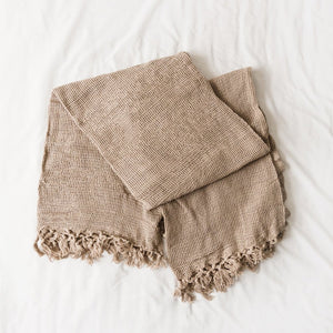 Light Grey Throw - Elizabeth Hales Design