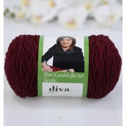 Diva İnce Cotton Makrome Bordo