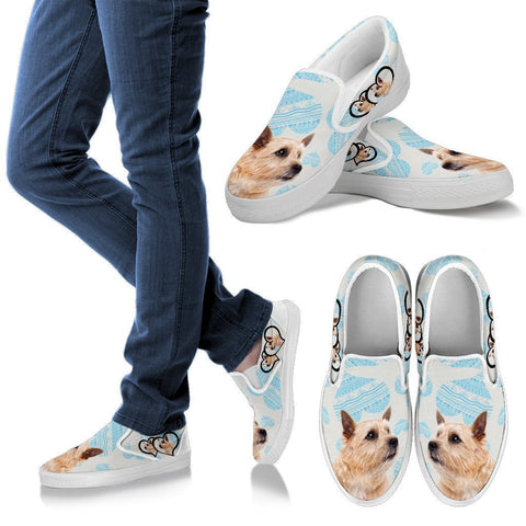 Valentine's Day Special-Norwich Terrier Print Slip Ons For Women-Free Shipping-Paww-Printz-Merchandise