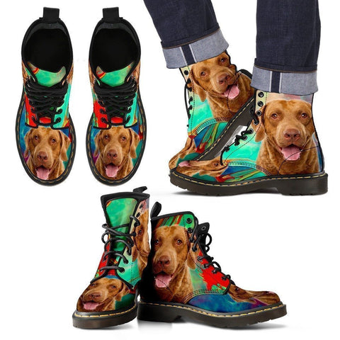 Chesapeake Bay Retriever Print Boots For Men-Express Shipping-Paww-Printz-Merchandise