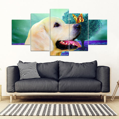 Golden Retriever 5 Piece Framed Canvas- Free Shipping-Paww-Printz-Merchandise
