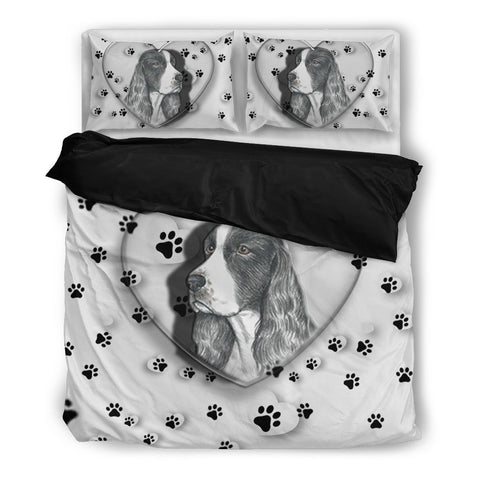 Valentine's Day Special-English Springer Spaniel Print Bedding Set-Free Shipping-Paww-Printz-Merchandise