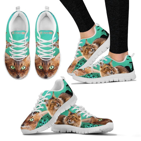 Somali Cat (Halloween) Print-Running Shoes For Women-Free Shipping-Paww-Printz-Merchandise