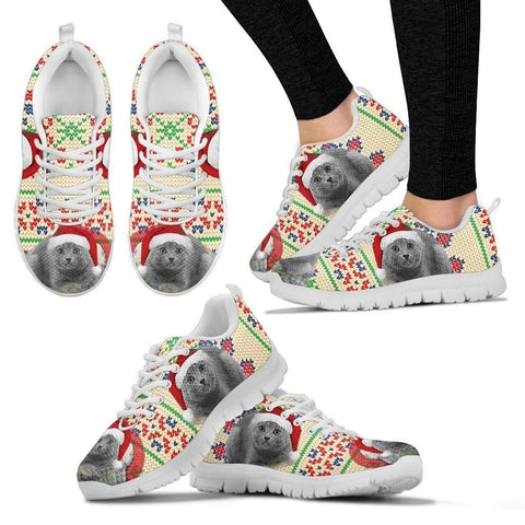 Chartreux Cat Christmas Running Shoes For Women- Free Shipping-Paww-Printz-Merchandise