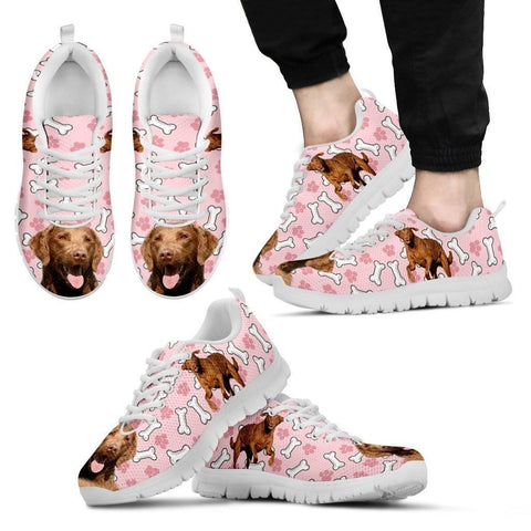 Chesapeake Bay Retriever Print Sneakers For Men(White/Black)- Express Shipping-Paww-Printz-Merchandise