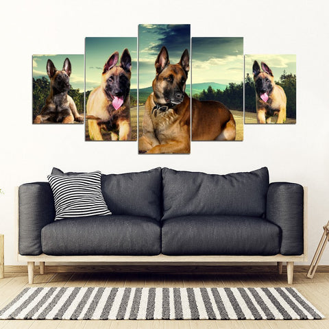 Malinois Dog Print- Piece Framed Canvas- Free Shipping-Paww-Printz-Merchandise