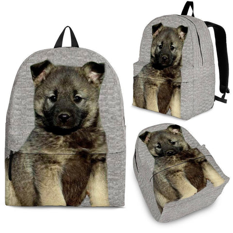 Norwegian Elkhound Dog Print Backpack-Express Shipping-Paww-Printz-Merchandise
