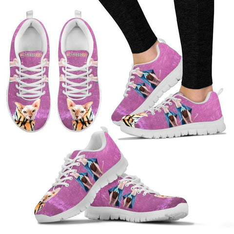Sphynx Cat (Halloween) Print-Running Shoes For Women/Kids-Free Shipping-Paww-Printz-Merchandise