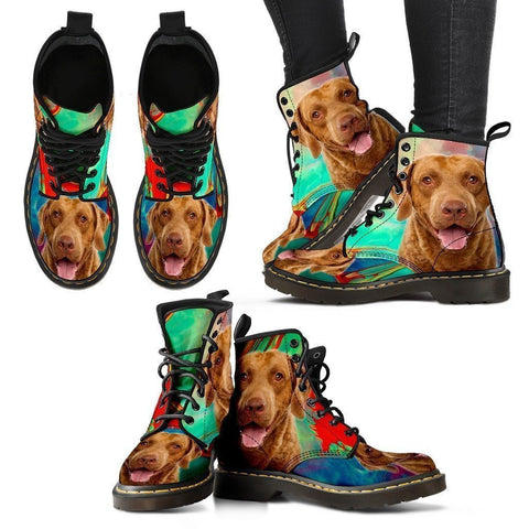 Chesapeake Bay Retriever Print Boots For Women-Express Shipping-Paww-Printz-Merchandise
