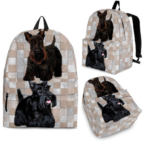 Scottish Terrier Dog Print Backpack-Express Shipping-Paww-Printz-Merchandise
