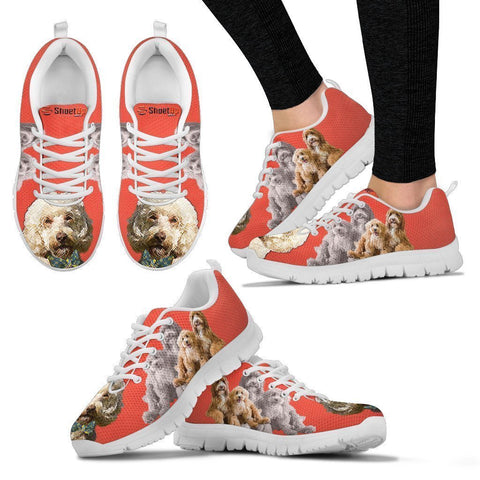 Labradoodle With Bow Tie Print Running Shoes For Women- Free Shipping-Paww-Printz-Merchandise