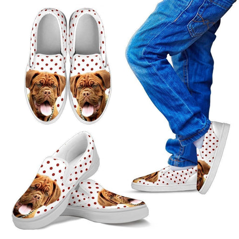 Bordeaux Mastiff (Dogue de Bordeaux) Print Slip Ons For Kids- Express Shipping-Paww-Printz-Merchandise