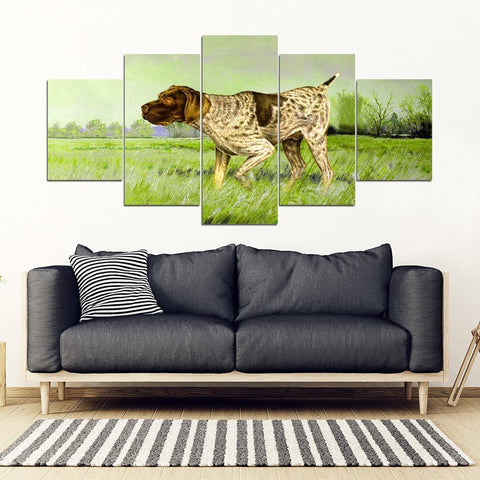 German Shorthaired Pointer Print 5 Piece Framed Canvas- Free Shipping-Paww-Printz-Merchandise