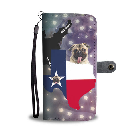 Lovely Pug Dog Print Wallet Case-Free Shipping-TX State