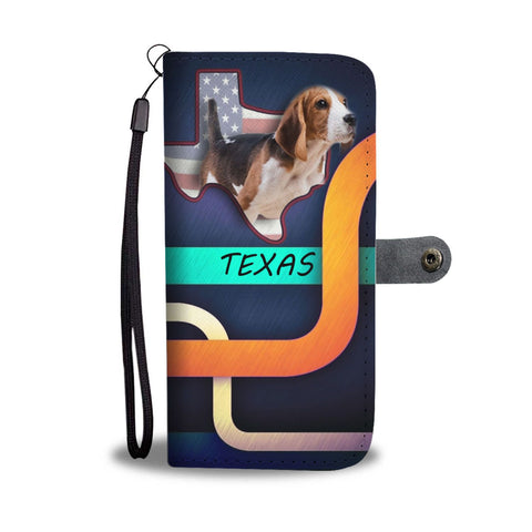Cute Beagle Print Wallet Case-Free Shipping-TX State