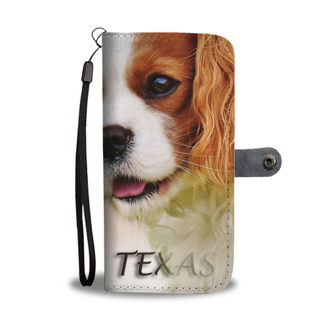 Cavalier King Charles Spaniel Print Wallet Case-Free Shipping-TX State