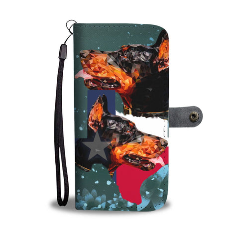 Doberman Pinscher Dog Vector Print Wallet Case-Free Shipping-TX State