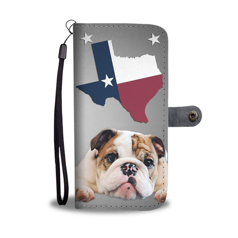 Lovely Bulldog Wallet Case-Free Shipping- TX State