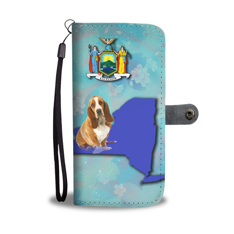 Basset Hound Dog Print Wallet Case-Free Shipping-NY State
