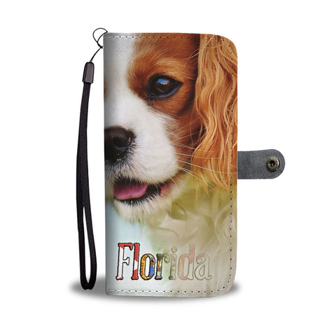Cavalier King Charles Spaniel Print Wallet Case-Free Shipping-FL State