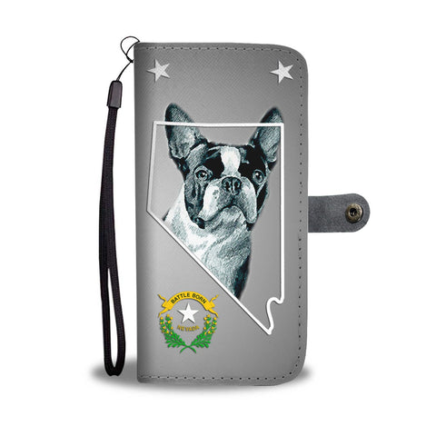 Cute Boston Terrier Print Wallet Case-Free Shipping- NV State