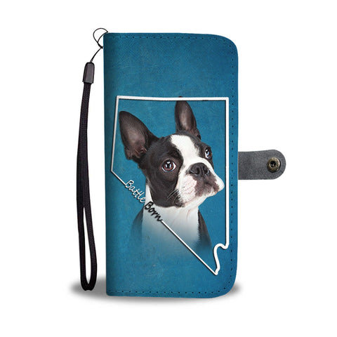Amazing Boston Terrier Print Wallet Case- Free Shipping- NV State