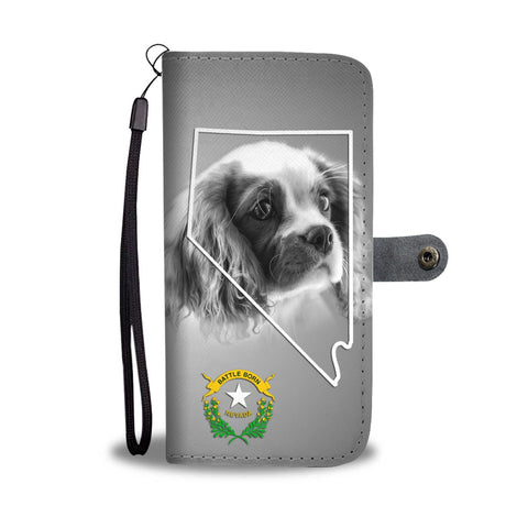 Cute Cavalier King Charles Spaniel Print Wallet Case- Free Shipping-Nv State