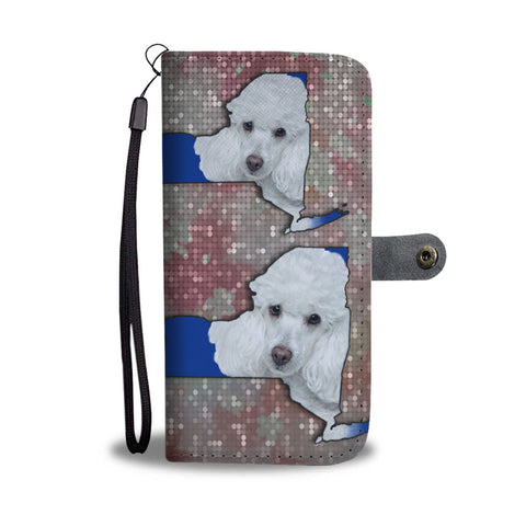 Cute Poodle Dog Print Wallet Case-Free Shipping-NY State