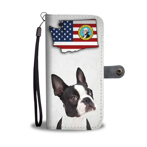 Boston Terrier Print Wallet Case-Free Shipping-WA State