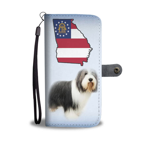 Bearded Collie Print Wallet Case-Free Shipping-GA State