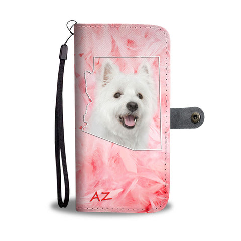 West Highland White Terrier Print Wallet Case-Free Shipping-AZ State