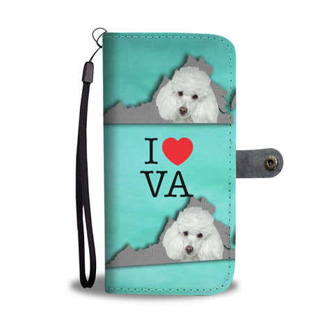 Poodle Dog Print Wallet Case-Free Shipping-VA State
