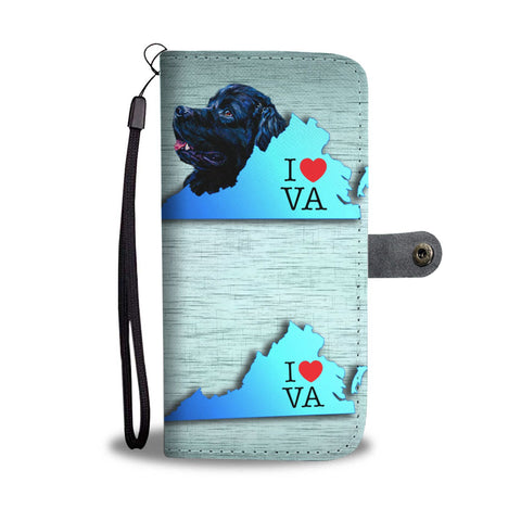 Newfoundland Dog Print Wallet Case-Free Shipping-VA State