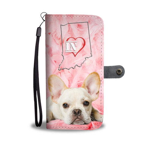 Lovely French Bulldog Print Wallet Case-Free Shipping- IN State